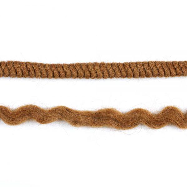Lite Brown Crepe Wool Hair